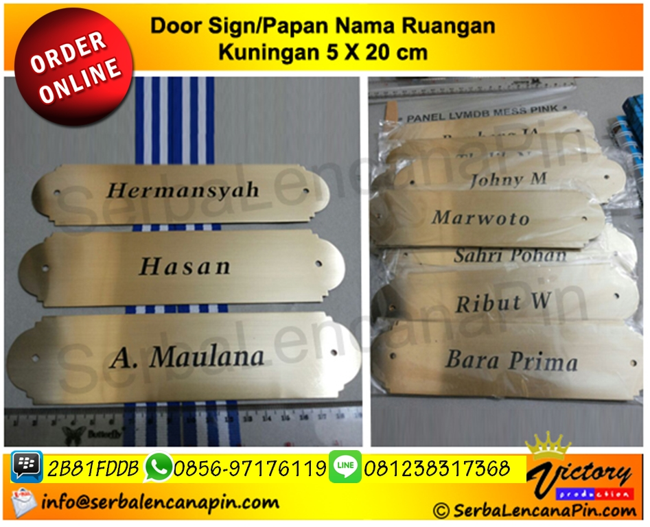 door sign kuningan papannamaruanga