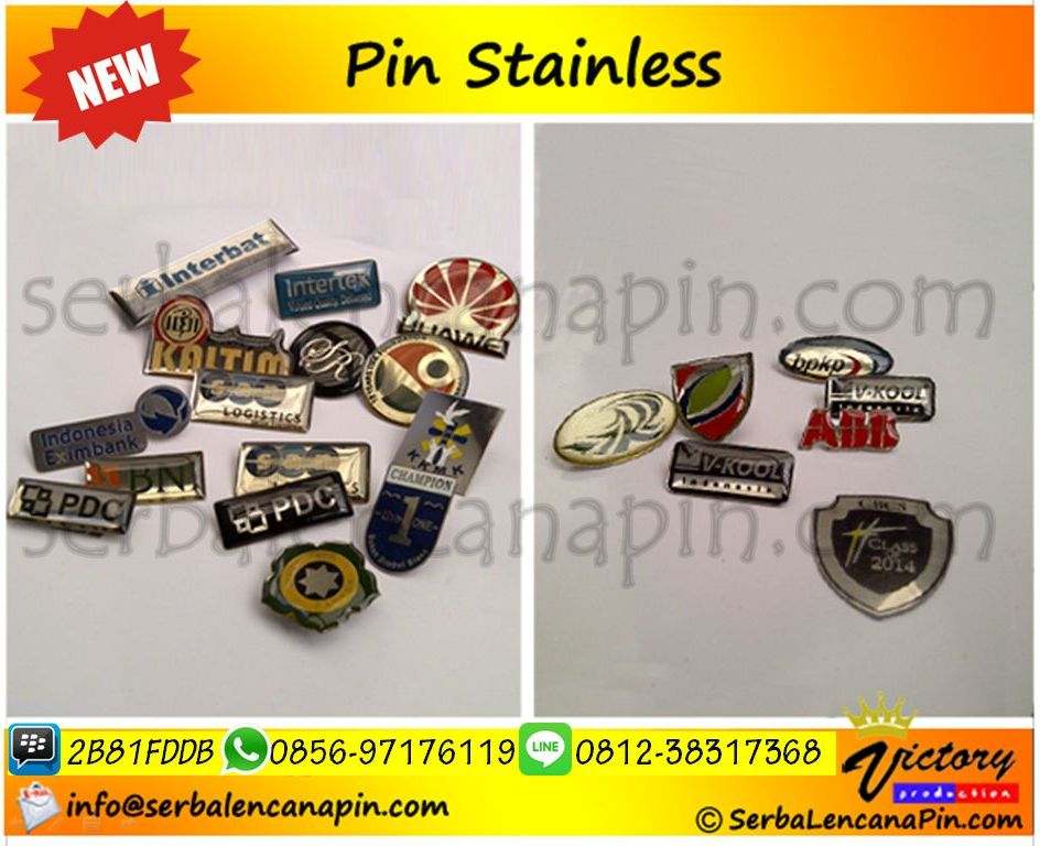 pin stainless pin silver serbalencanapin